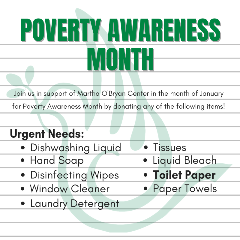 Poverty Awareness Month - Urgent Items Needed