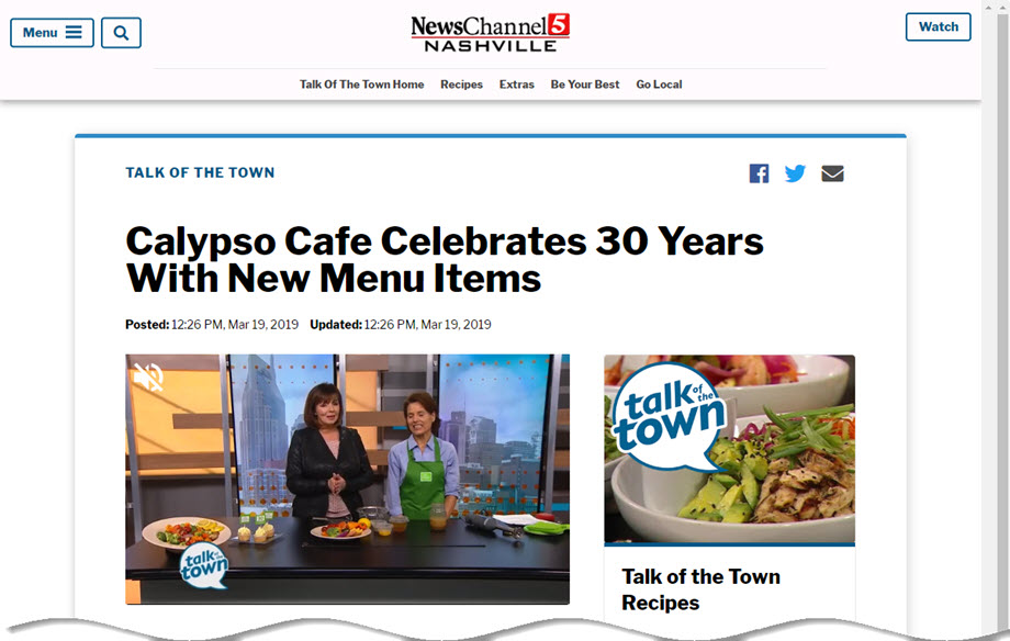Talk of the Town Feature - NewsChannel 5 Feature